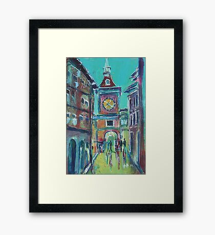 Clock Tower Arcade Framed Print