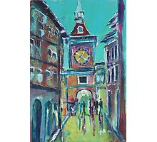 Clock Tower Arcade Photographic Print