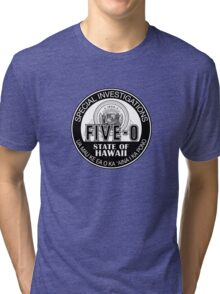 Hawaii Five-O Special Investigator Shield Tri-blend T-Shirt