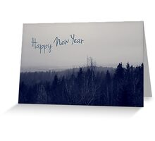 Winter - Happy New Year Greeting Card