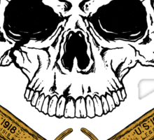 World War 1 Skull and Trench Knife Sticker