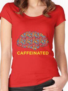 Caffeinated Brain Women's Fitted Scoop T-Shirt
