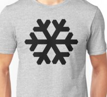 Snowflake black Unisex T-Shirt