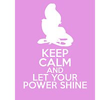 Keep Calm and Let Your Power Shine (Rapunzel, Tangled) Photographic Print