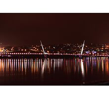 The Peace Bridge At Night Photographic Print