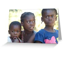 Family, near Mfuwe, Zambia Greeting Card