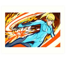 Zero Suit Samus | Plasma Whip Art Print