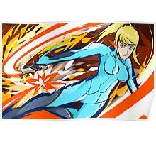 Zero Suit Samus | Plasma Whip Poster