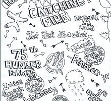 Catching Fire Drawing by lyricsbyliberty