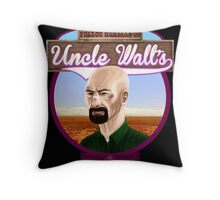 Uncle Walt's Baby Blue Meth Throw Pillow