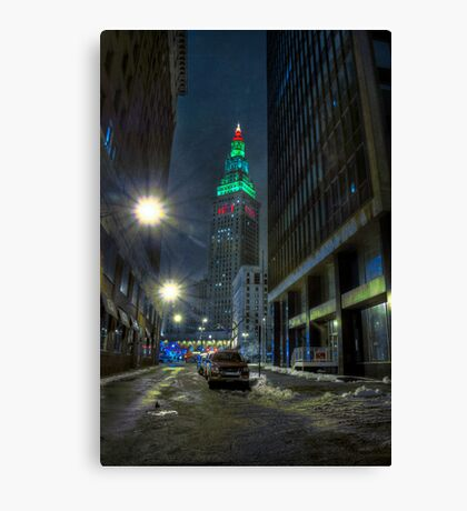 The Tower with Christmas on Top Canvas Print
