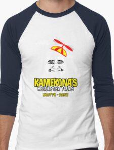 Kamekona's Helicopter Tours Men's Baseball ¾ T-Shirt