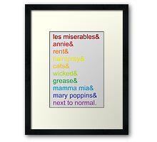Broadway Rainbow Framed Print