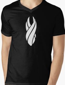Unitology White Mens V-Neck T-Shirt