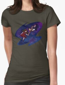 11th Doctor and Clara Womens Fitted T-Shirt
