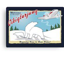 MJN Air to Qikiqtarjuaq Canvas Print