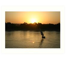 Nile Sunset Art Print