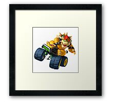 Bowser Kart Framed Print