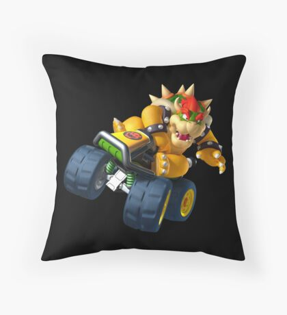Bowser Kart Throw Pillow