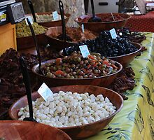 Olives at a French market by ANH62950