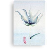 fleur bleue 01 Canvas Print