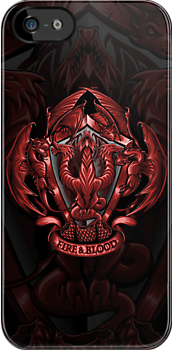 Fire and Blood - Iphone Case by TrulyEpic