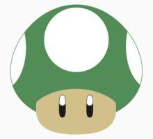 Mario-1UP Mushroom Kids Tee