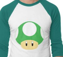 Mario-1UP Mushroom Men's Baseball ¾ T-Shirt