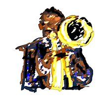 Jazz Trumpeter by Grobie