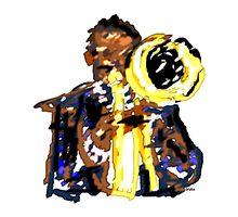 Jazz Trumpeter by Grobie