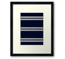 Knitted Scarf - Ravenclaw Framed Print