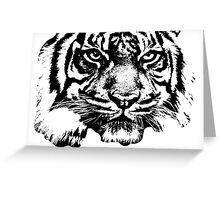 Tiger, big cat, hunter and predator Greeting Card