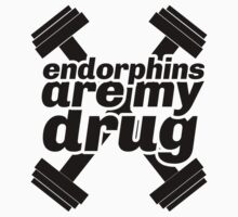 endorphins are my drug - girly t shirt - women's exercise apparel by printproxy