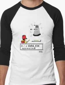 Doctormon - A wild DALEK appeared! Men's Baseball ¾ T-Shirt