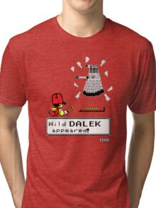 Doctormon - A wild DALEK appeared! Tri-blend T-Shirt