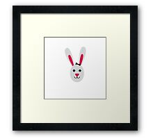 Rabbit with ribbon Framed Print