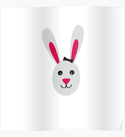 Rabbit with ribbon Poster