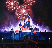 Fireworks over the Castle by ArtbyJoshua