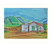 South Africa. Northern Cape Landscape by Jane Flowers Art Print