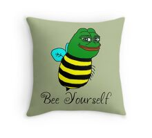Bee Yourself Throw Pillow