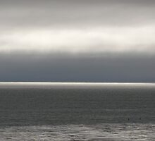 Silver Lining Ocean Cloudscape by sarafureyphoto