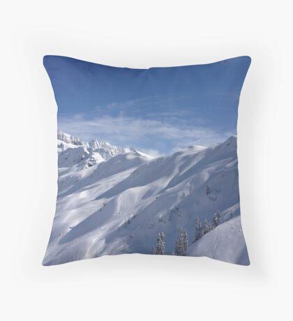 Bluebird Mt. Baker Throw Pillow