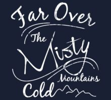 Misty Mountains White Distressed by Adaline Kendrick
