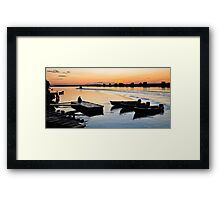 Evening relaxation Framed Print