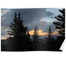 Stormy Sunset Colorado Poster