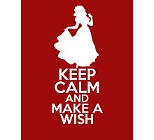 Keep Calm and Make a Wish (Snow White, Snow White and the Seven Dwarfs) Photographic Print