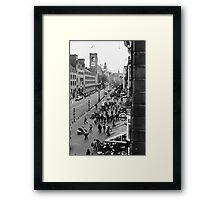Amsterdam (b/w film) Framed Print