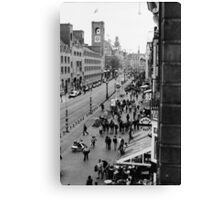 Amsterdam (b/w film) Canvas Print