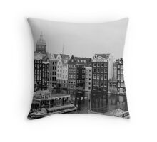 Amsterdam (b/w film) Throw Pillow