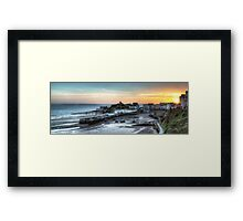 Tenby Harbour Sunrise Panoramic Framed Print